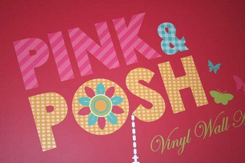 Pink and Posh vinyl wall decor