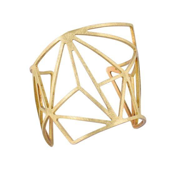 Yb004 rapstar cuff in coated brass- R1550