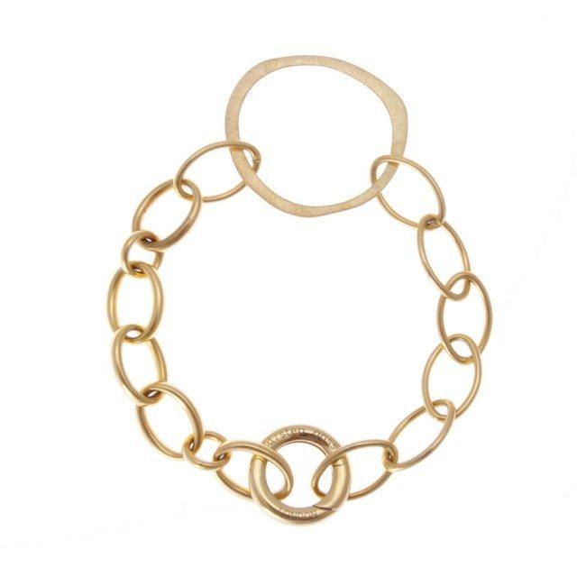 ZB201g- mixed onion bracelet in vermeil- R1930