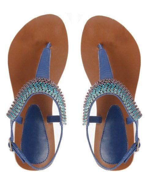 navy blue sandels