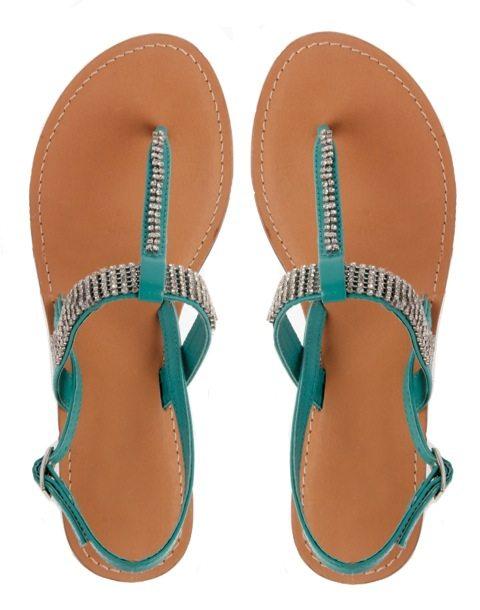 turquoise sandels