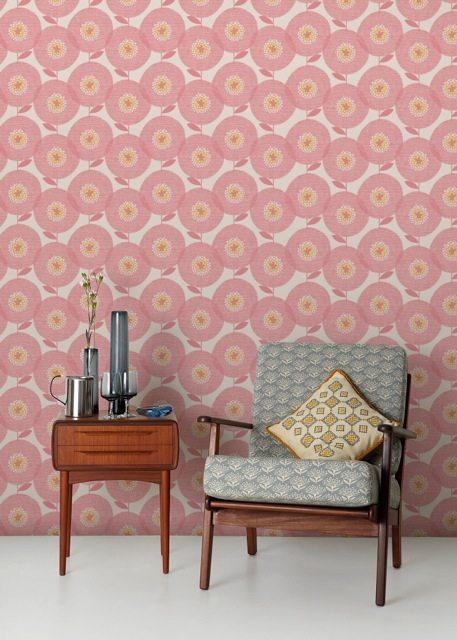 Wallpaper Flower Fields Rosy_HR