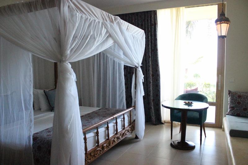 Inside our room at Melia Zanzibar Hotel