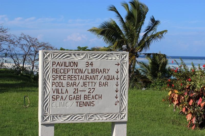 Zanzibar Hotel Grounds sign post