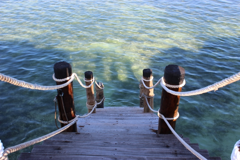 Zanzibar water walkway from jetty
