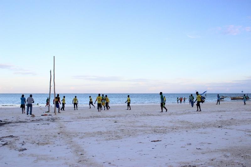 beach soccer kiwengwa village zanzibar