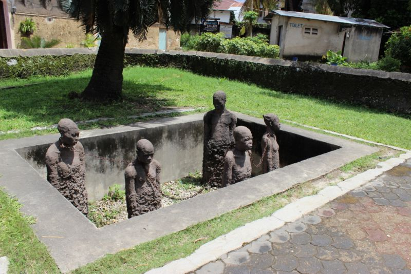 Monument to the slaves who were brought to Zanzibar from all over East Africa