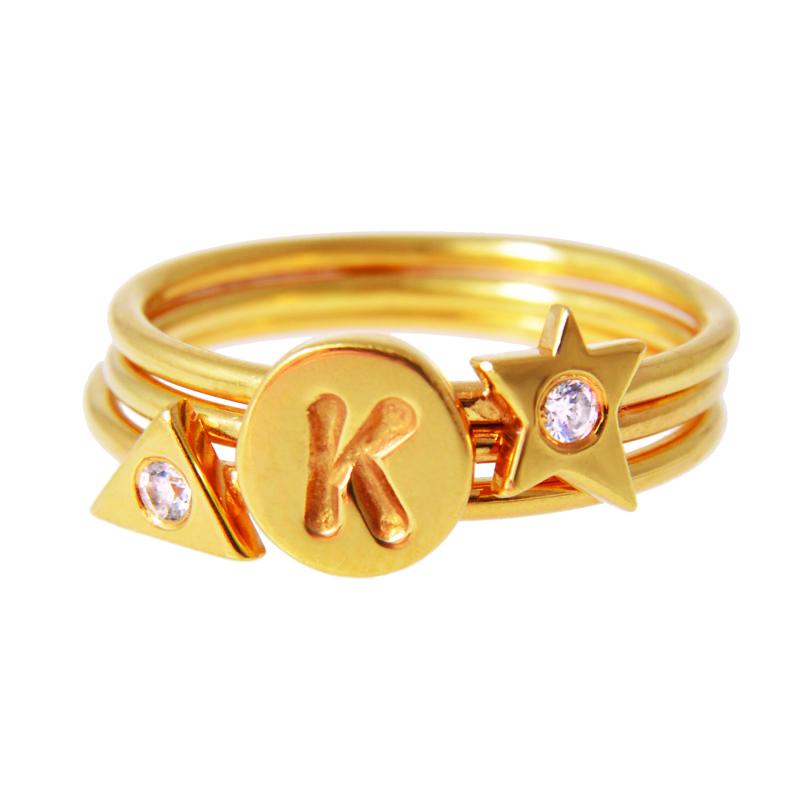 Kirsten Goss Diamond Stacking Rings
