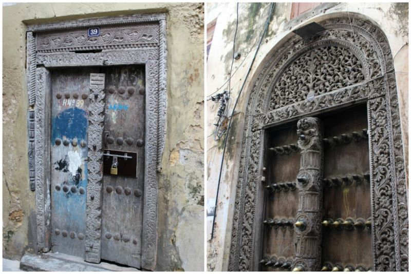 stone town carved doors