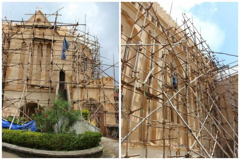 Renovations on Anglican Church in Stone Town located on the site of the old Slave Market