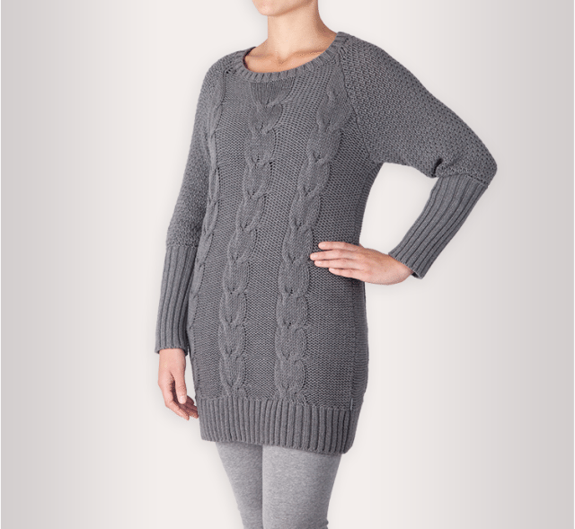 Earth Addict Cable Knit Grey