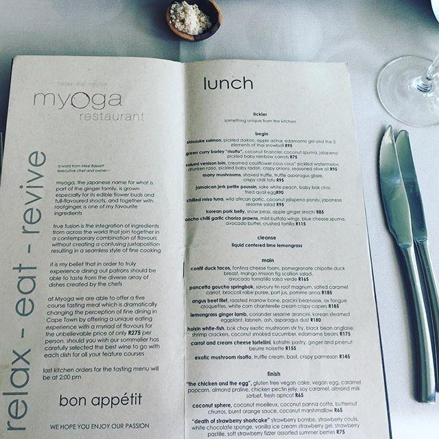 myoga menu