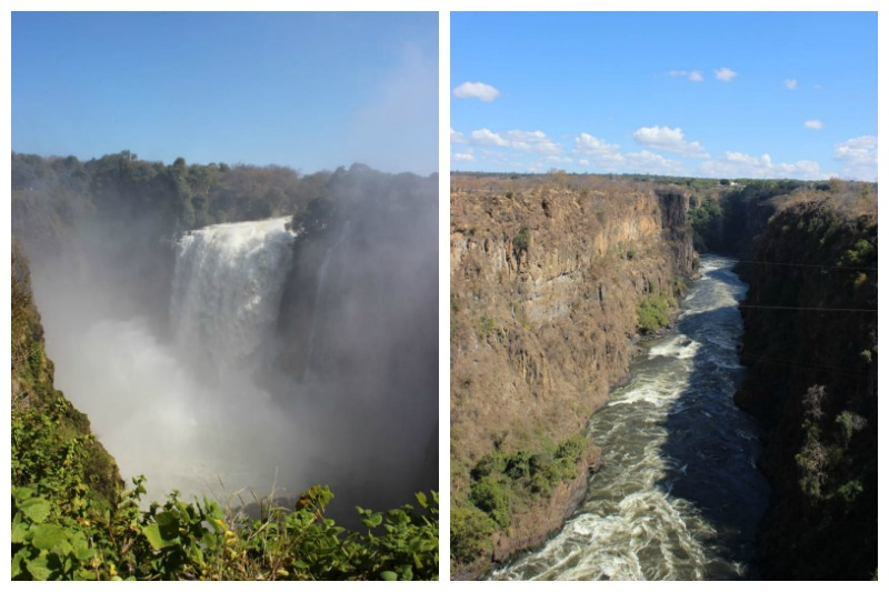 the two sides of victoria falls