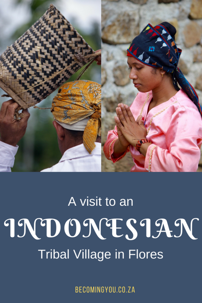 visit to indonesian village in flores
