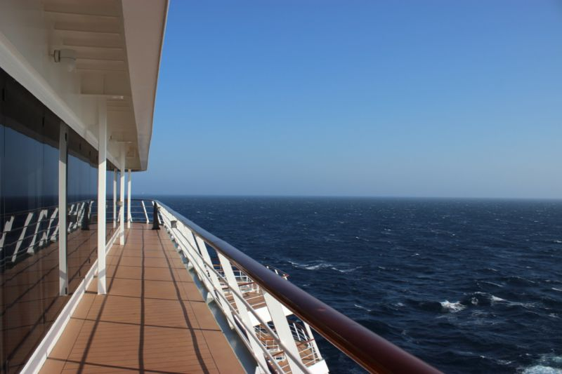 MSC Sinfonia deck view