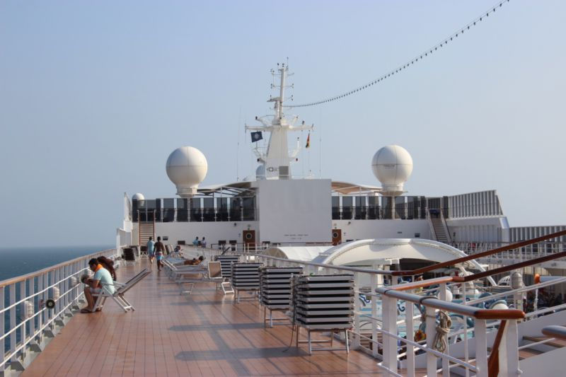 deck of MSC Sinfonia