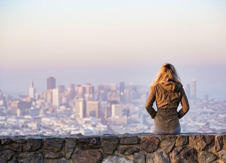 woman city view