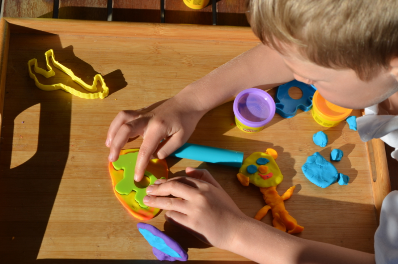 playtime with play-dough
