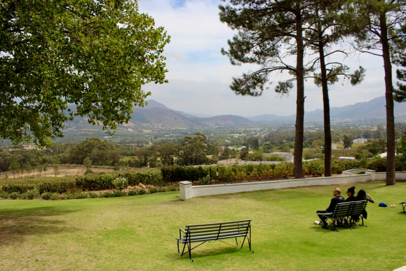 View at La Petite Ferme on the Franschhoek Wine Route