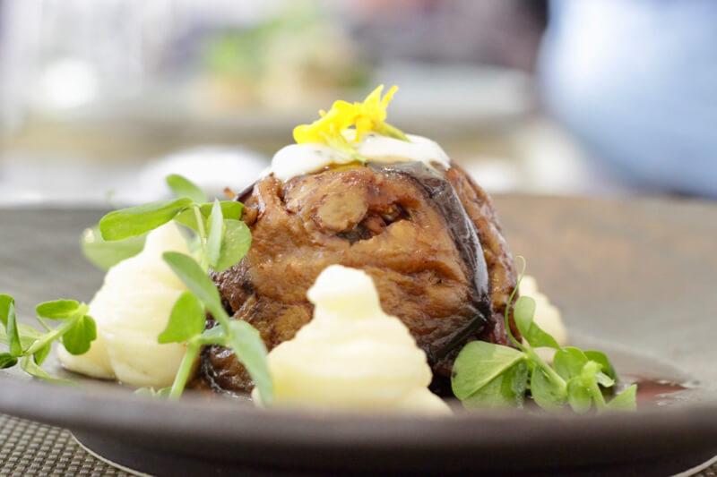 A decadent La Petite Ferme signature lamb dish