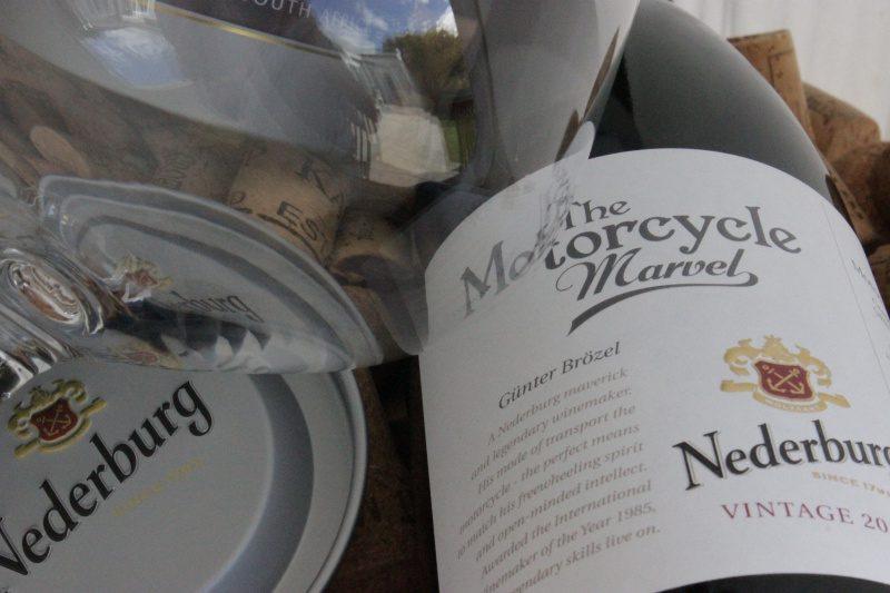 Bottle of Nederburg Motorcycle Marvel red wine