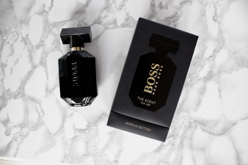 dc5579a60d4 Presented in textured black box featuring the scents  silhouette and  embossed with the BOSS logo in gold the Parfum Edition of The Scent for Her  is a lesson ...