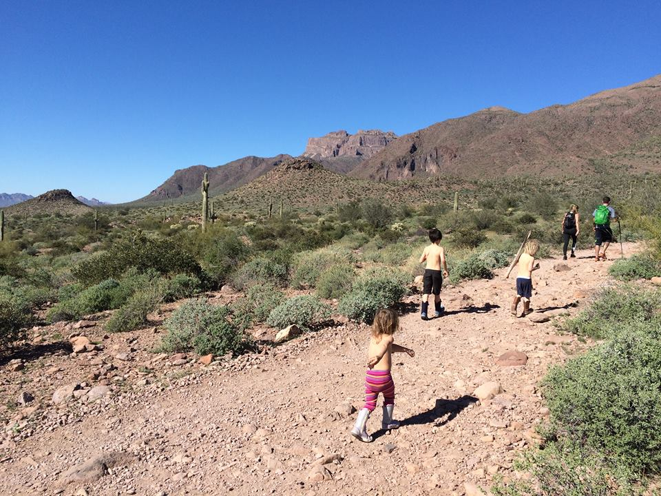 hiking with kids in phoenix arizona