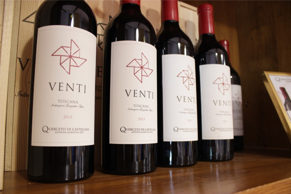 he limited edition venti red wine from Querceto di Castellina